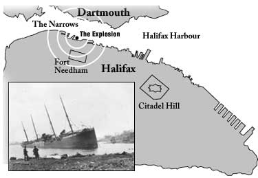 Explosión de Halifax Map