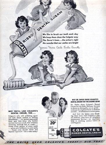 1939-colegate-quintuplets