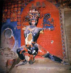 Tibet Guge 06 Tsaparang White Temple 05 23 Vajrapani